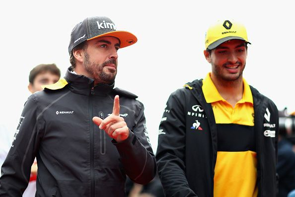 Fernando Alonso (left) and Carlos Sainz are two of Spain