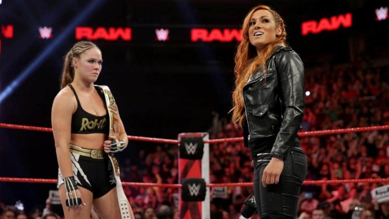 Ronda Rousey and Becky Lynch have caused controversy backstage with their war of words on social media.