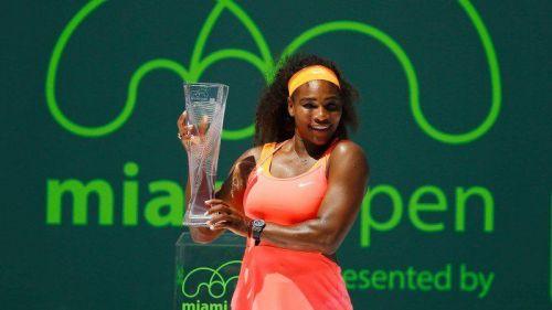 Serena Williams won the Miami Open in 2015