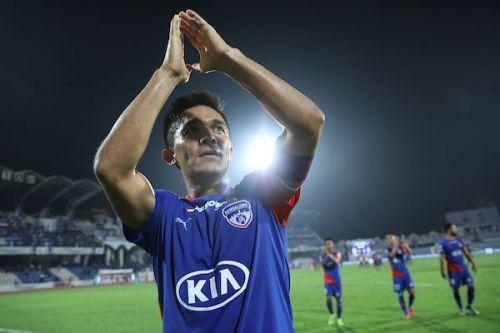 Sunil Chhetri has scored nine goals for Bengaluru FC this season