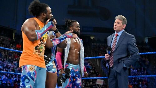 Mr McMahon pitted Kofi Kingston against immeasurable odds at the end of the episode