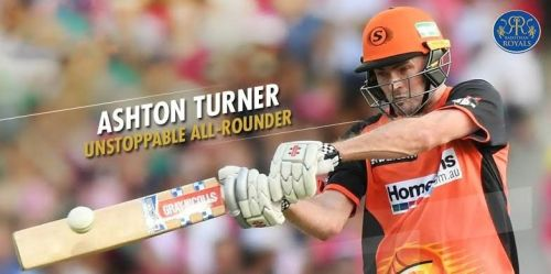 Ashton Turner will feature for Rajasthan Royals in IPL 2019 (Image Courtesy: Rajasthan Royals)