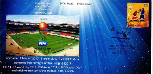 SPECIAL COVER RELEASED IN KOCHI ON 2017 U-17 FIFA WORLD CUP