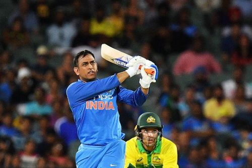 MS Dhoni scored four consecutive ODI half-centuries against Australia in early 2019