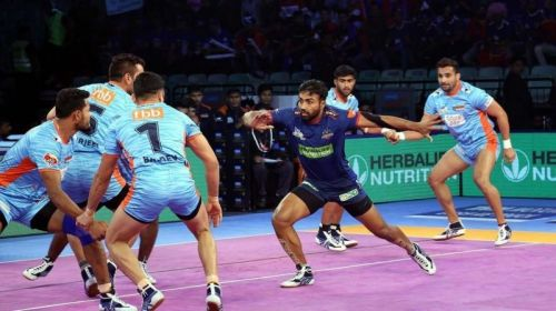 Monu Goyat is a quality raider in the Pro Kabaddi League