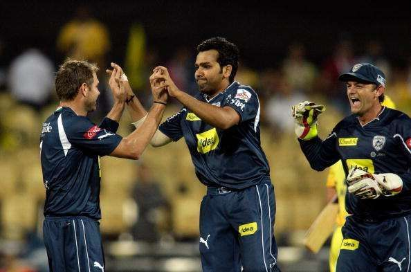 Rohit Sharma back in 2009 was signed with the Deccan Chargers