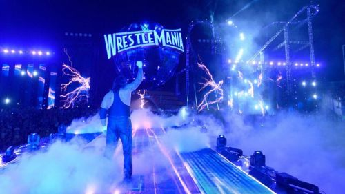 As the WWE Universe pays their respects to WrestleMania's most enduring Superstar, The Undertaker takes what may be his final walk up the ramp.