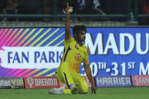 Shardul Thakur celebrates the dismissal of Rishabh Pant (Image courtesy: IPLT20/BCCI)