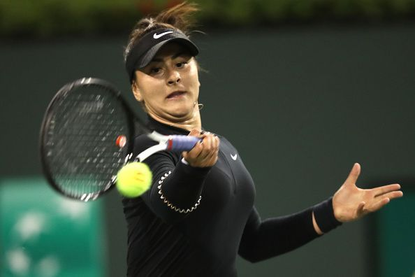 Bianca Andreescu at BNP Paribas Open - Day 12
