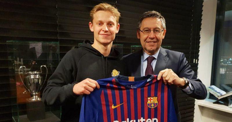 Frenkie De Jong will be joining Barcelona in the 2019-20 season for a massive sum of €75 million