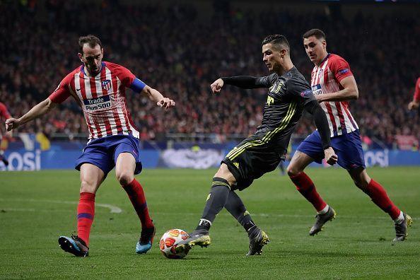 Club Atletico de Madrid beat Juventus 2-0 at home