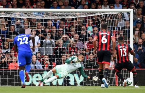 Etheridge's history-making save on his Premier League debut against AFC Bournemouth