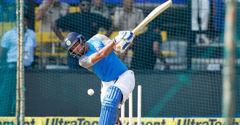Umesh Yadav opened the batting for Vidarbha today