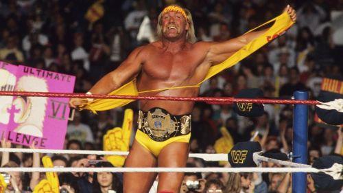 Hulk Hogan as WWE World Heavyweight Champion.