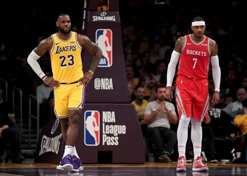 Talk of Carmelo Anthony's arrival is currently dominating the Lakers buyout news cycle