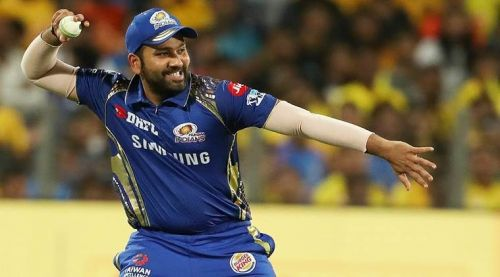 Rohit Sharma in action for MI