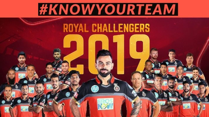 Royal Challengers Bangalore squad for VIVO IPL 2019