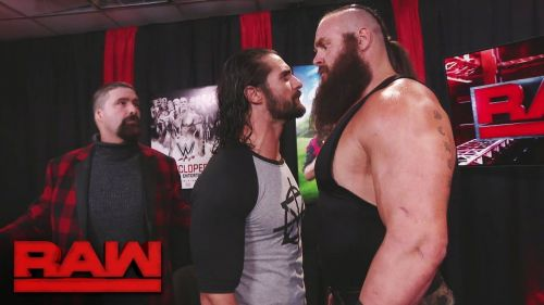 Braun must not have forgotten that Seth eliminated him to win the Rumble