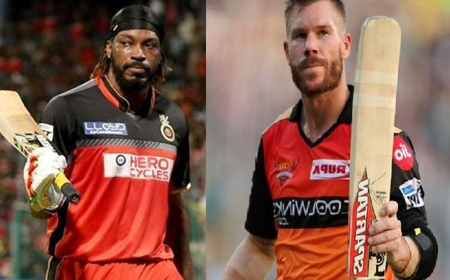 chris gayle vs david warner in IPL