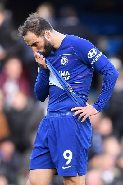 Chelsea FC's Gonzalo Higuain