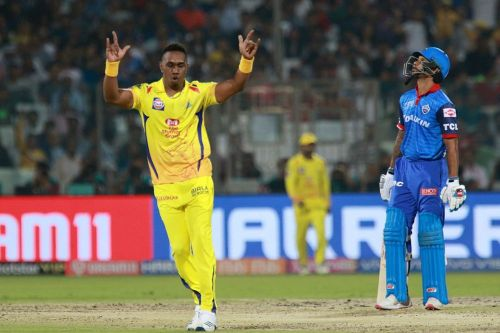 Bravo took three wickets (Image courtesy: BCCI/IPLT20)