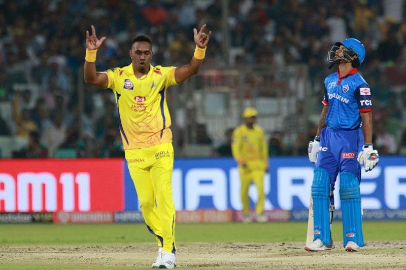 Bravo took three wickets (Image courtesy: BCCI/IPLT20)