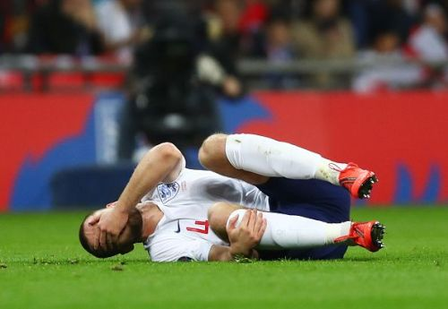 Eric Dier was injured during the England v Czech Republic game.