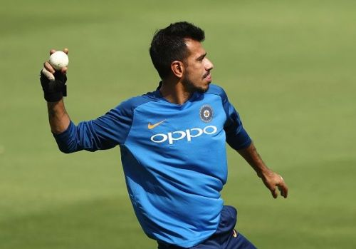 Chahal in a practise session