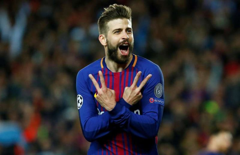 Gerard Pique also tasted both bot sides