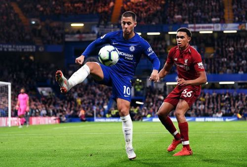 Eden Hazard will be tasked with helping Chelsea prevail away from home against title chasers Liverpool