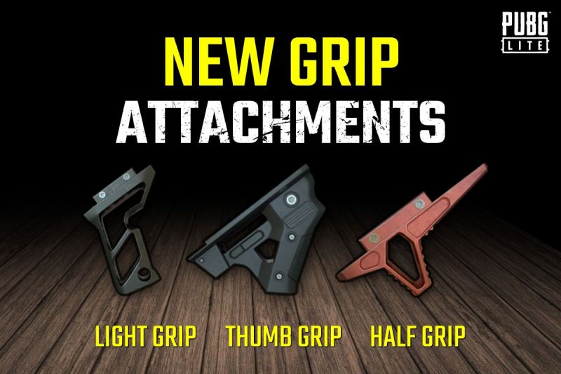PUBG Lite PC: 3 New Grips Added