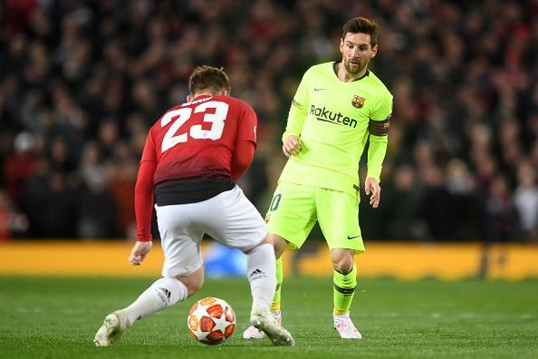 Messi has gone 11 consecutive UCL quarterfinal matches without a goal
