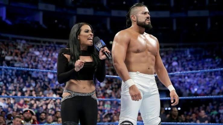 Andrade with Zelina Vega