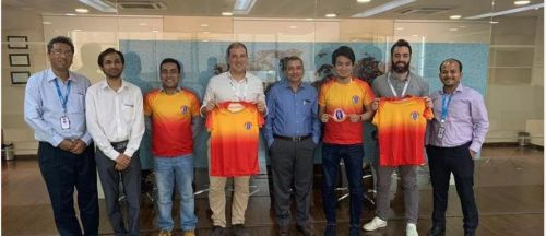 Quess East Bengal Club during their meet with the FC Barcelona officials