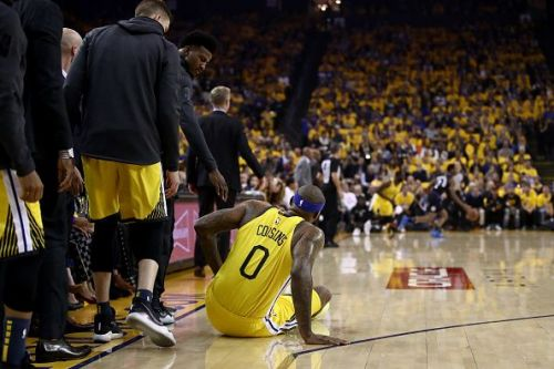 DeMarcus Cousins suffered the injury during the Golden State Warriors' Game Two defeat to the LA Clippers