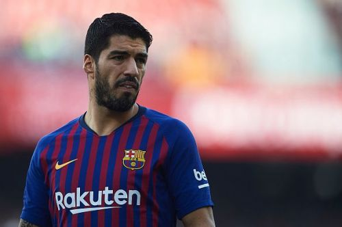 Luis Suarez has failed to score in his last 16 Champions League away games