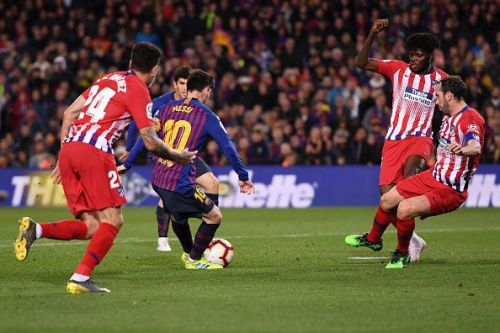Atletico remained compact despite the red card