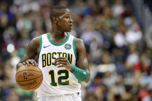 Terry Rozier in action against the Washington Wizards