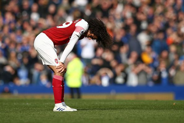 Matteo Guendouzi had the job of filling the voids left by Xhaka and Torreira, but the 19-year old couldn