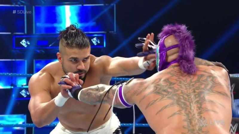 Andrade deserves as much an opportunity as Rey Mysterio does
