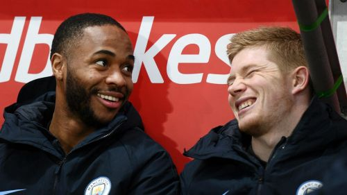 Raheem Sterling and Kevin De Bruyne - cropped