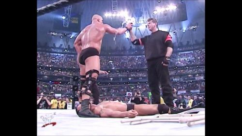steve austin heel turn at wrestlemania x-7