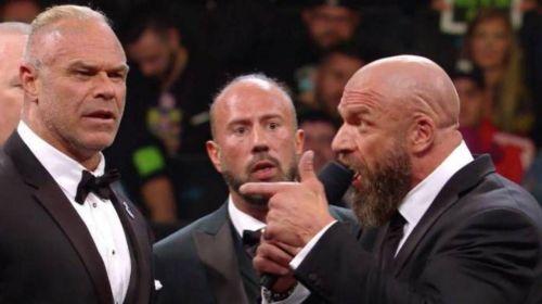Triple H didn't spare anyone during the speech