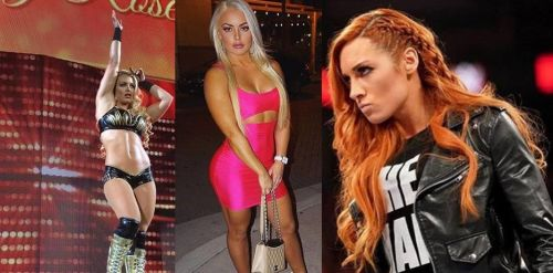 Mandy Rose (left and center) is a better WWE Superstar than Becky Lynch (right)