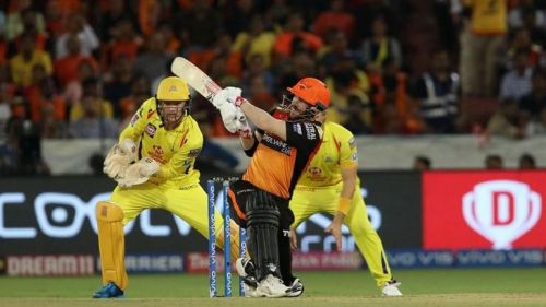 David warner's quick 50 from 25 balls aLSo took the match from CSK to SRH