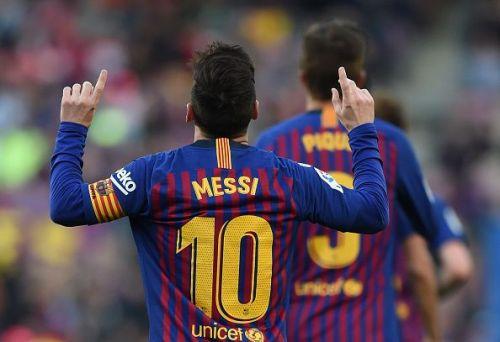 FC Barcelona's win over Espanyol was Messi's 374th win in the Blaugrana colours.