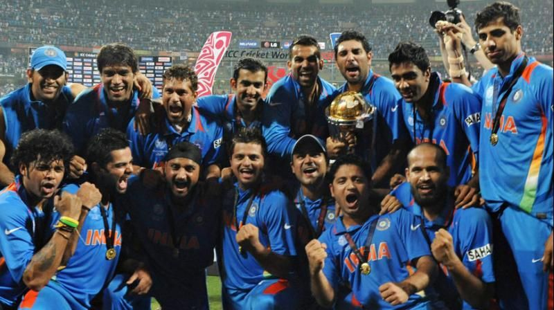 2011 winning indian team