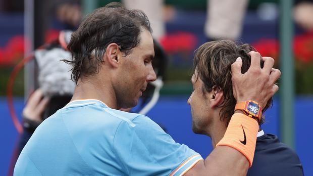 Rafael Nadal and David Ferrer at the Barcelona Open 2019