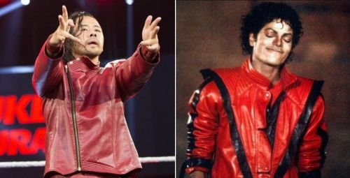 Nakamura's attire and gyrations bear a striking resemblance to Michael Jackson.