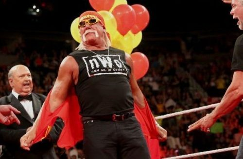 Hogan during his birthday celebration